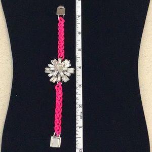 kate spade Jewelry - kate spade starburst gem and pink cord bracelet